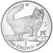 Silver Coin Norwegian Forest Cat 1991 Cats Series - 1 oz