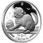 Silver Coin Scottish Fold Kitten 2000 Cats Series - 1 oz