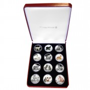 """Cats"" Series Twelve Silver Custom Coin Set"