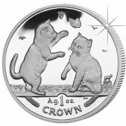 Silver Coin Tonkinese Cat 2004 Cats Series - 1 oz