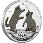 "Silver Colored CoinTONKINESE CAT 2004 ""Cats"" Series"