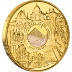 Gold Coin with Sand from the Great Pyramid of Giza THE WONDERS OF THE MODERN WORLD 2008