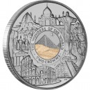 Silver Coin with Sand from the Great Pyramid of Giza THE WONDERS OF THE MODERN WORLD 2008 - 2 oz
