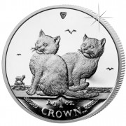 Silver Coin Balinese Cat 2003 Cats Series - 1 oz