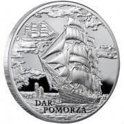 Silver Coin Ship Dar Pomorza 2009 Sailing Ships Series