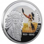 """Silver Coin SITTING BULL 2010 """"Great Commanders"""" Series"""