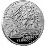 Silver Coin SHIP AMERIGO VESPUCCI 2010 Sailing Ships Series