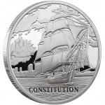 Silver Coin SHIP USS CONSTITUTION 2010 Sailing Ships Series