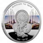 """Silver Coin ALEXANDER THE GREAT 2011 """"Great Commanders"""" Series"""