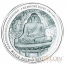 "Bhutan 1 oz MAHAYANA - SEOKGURAM GROTTO OF KOREA "" World Buddha Heritage"" Series  2010 Silver Coin Proof"