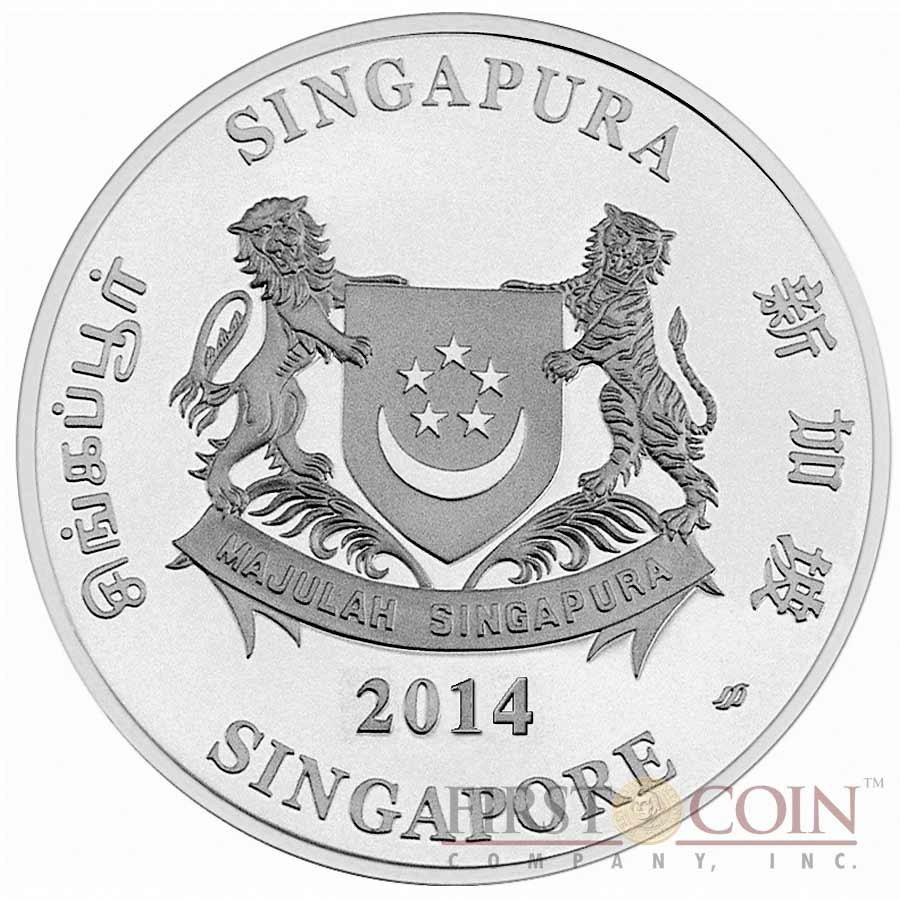 Singapore Year Of The Horse 2014 Lunar Series 10 Silver