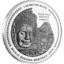 "Silver Coin FOUR FACE BUDDHA CAMBODIA 2010 "" World Buddha Heritage"" Series"