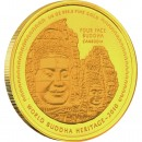 "Gold Coin FOUR FACE BUDDHA CAMBODIA 2010 "" World Buddha Heritage"" Series"