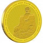 "Gold Bullion Coin LESHAN GIANT BUDDHA OF CHINA 2011 "" World Buddha Heritage"" Series - 1/25 oz"