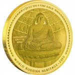 "Gold Bullion Coin THE TEMPLE OF THE STONE BUDDHA 2010 "" World Buddha Heritage"" Series - 1/25 oz"