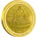 "Gold Coin THE TEMPLE OF THE STONE BUDDHA 2010 "" World Buddha Heritage"" Series"