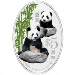 Silver Colored Coin GIANT PANDA 2012, Singapure - 1 oz