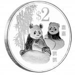 Медно-никелевая посеребреная монета ГИГАНТСКАЯ ПАНДА 2012,Сингапур