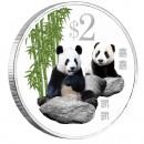 Cupro-Nickel Colored Coin GIANT PANDA 2012, Singapure
