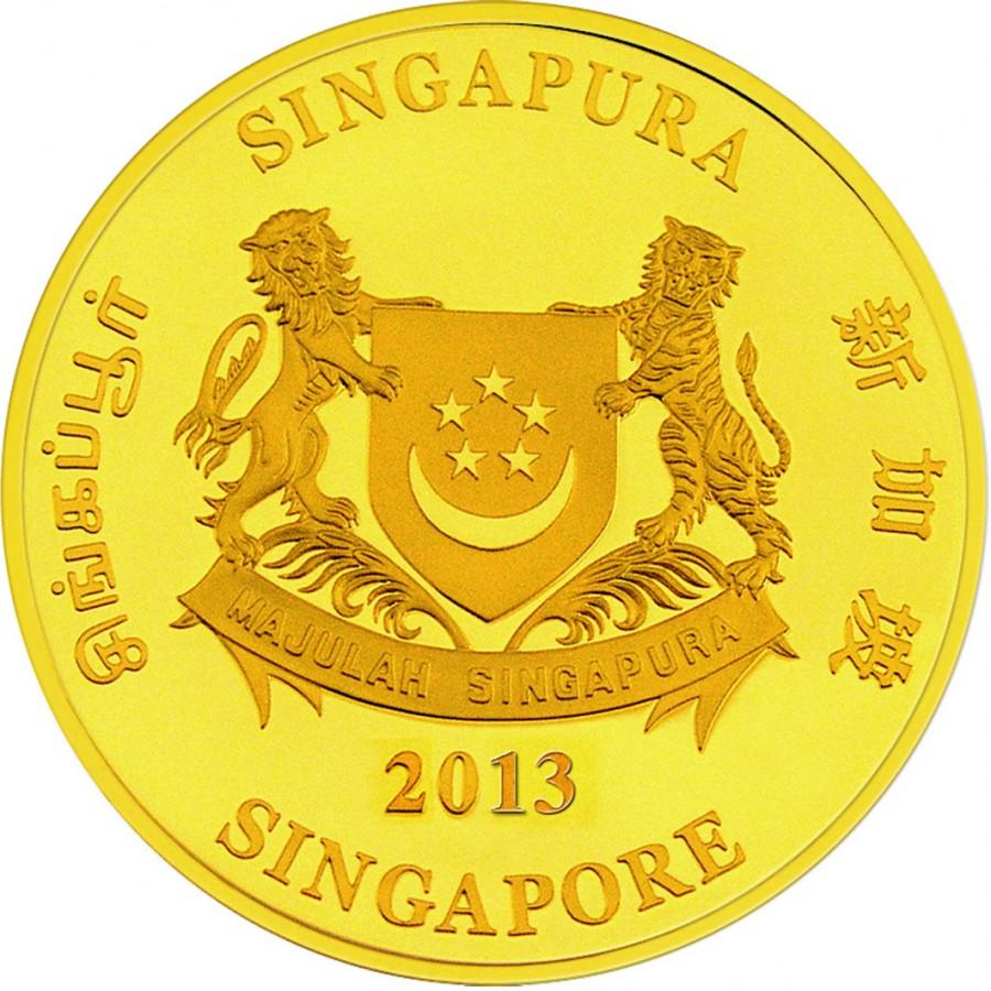 Gold Bullion Coin Snake 2013 Quot Lunar Quot Series Singapore