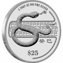 "Silver Coin SNAKE 2013 ""Lunar"" Series, Singapore - 5 oz"