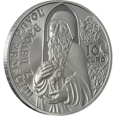 Серебряная монета МАСТЕР ПАВОЛ ИЗ ЛЕВОЧИ 2012