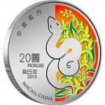 """Silver Coin MACAU SNAKE 2012 """"Lunar"""" Series - 1 oz"""