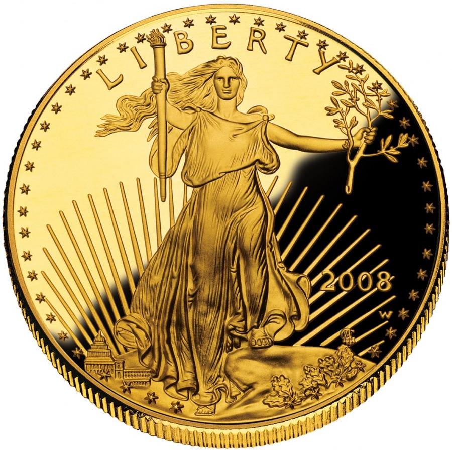 Золотая монета Американский Орел 2011 качества Пруф 1 унция