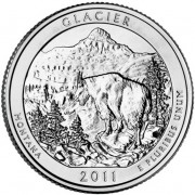 America the Beautiful Silver Coin – Glacier National Park Montana 2011 - 5oz