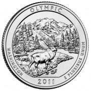 America the Beautiful Silver Coin – Olympic National Park, Washington 2011 - 5oz